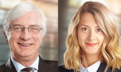 Daniel Bouchard and Chloé Fauchon speak at a conference on recent developments in environment law