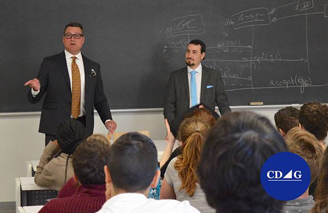 Sébastien Vézina and Benjamin David Gross at the Lavery lunch and learn: Business law and sports