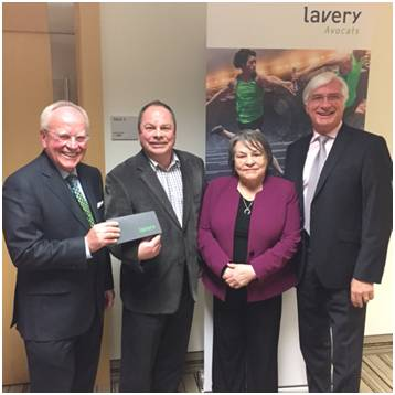 Marc-André Verville, notary, Lavery; Jacques Carrier, general manager, Fondation Maison Dauphine; Jacqueline Vézina, co-liquidator; and Daniel Bouchard, managing director, Lavery (Quebec City office)