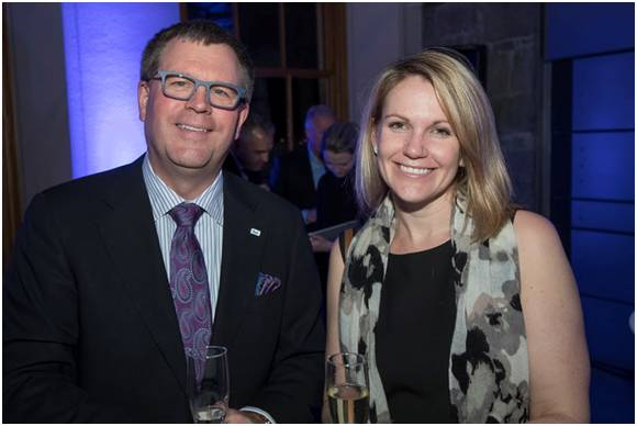Tom Little, President of Bell Business Markets, and Marie-Hélène Jolicoeur, a partner with Lavery, at the Fondation Montréal Inc. benefit soirée.