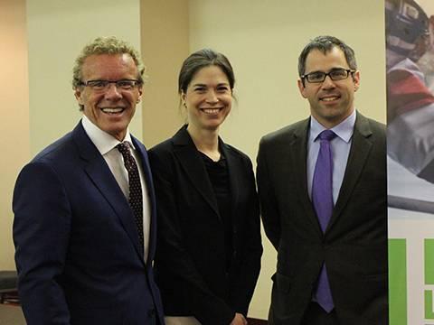 Jean Boulet, Myriam Lavallée et Nicolas Courcy