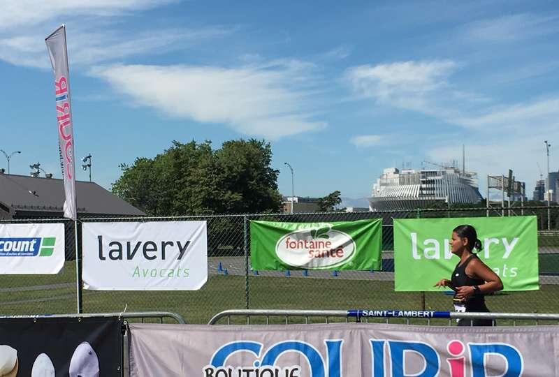 Lavery on the Podium at the Saint-Lambert Triathlon/Duathlon