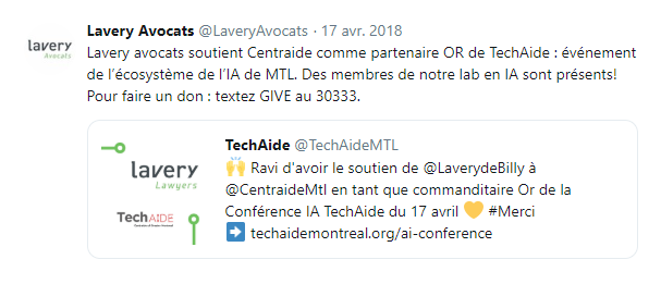 action L3IA intelligence artificielle Centraide avril 2018