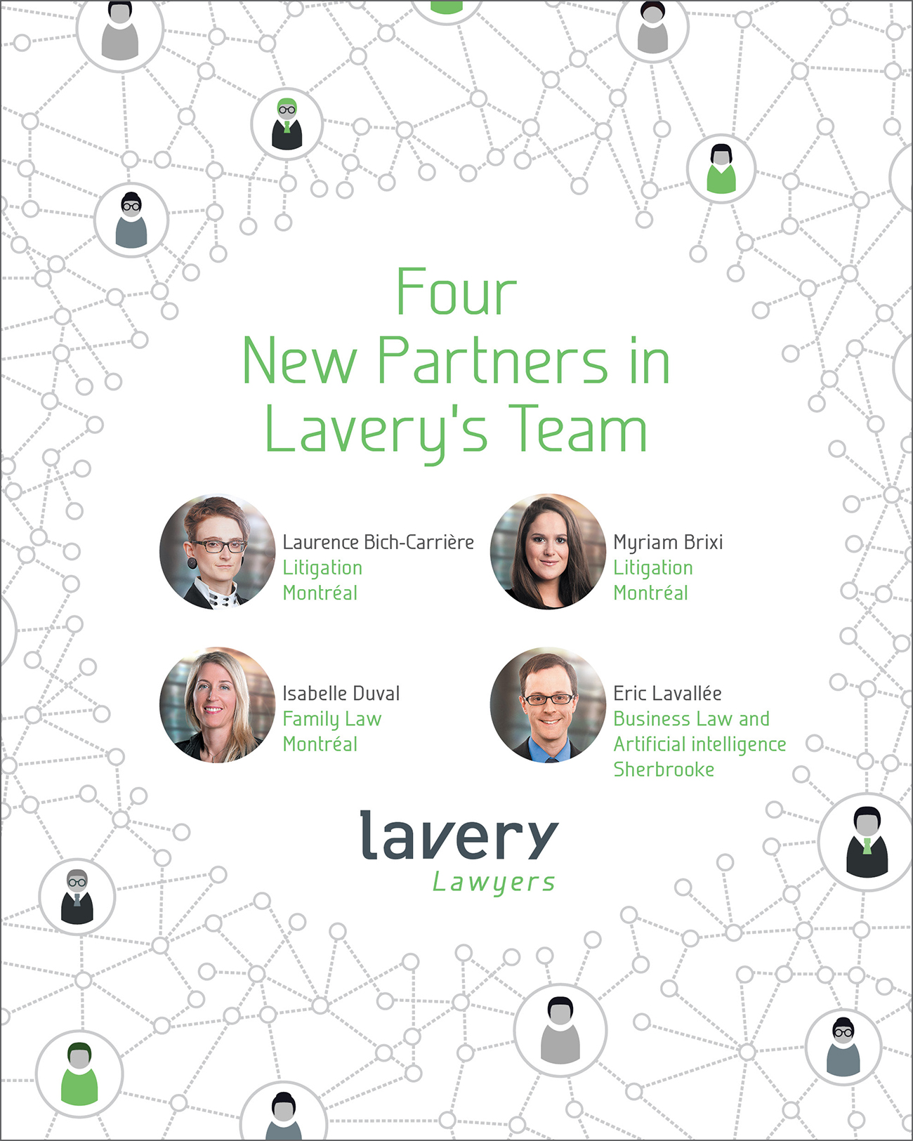 Four New Partners in Laverys Team